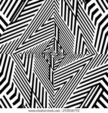 Black And White Pattern Vector 160 - stock vector