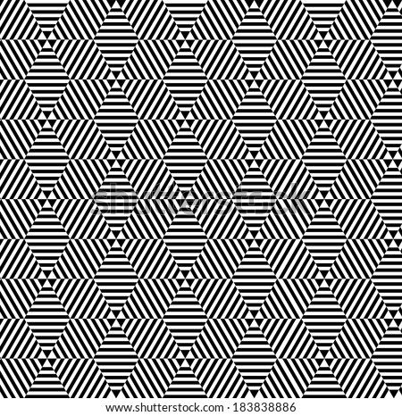 Black and white polygon texture Vector . Geometric pattern