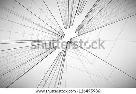 Black and white poster in the style of elementary geometry