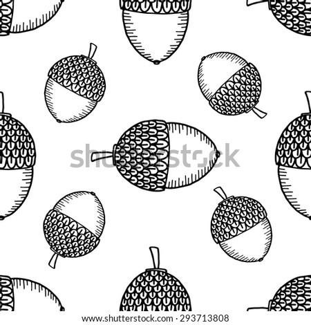 Acorn Black And White