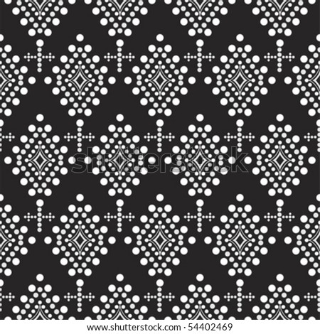 Black and White Seamless Pattern; Vector format