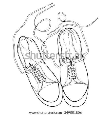 Black and white shoes.  Pattern for banners, flyers, card,  advertising, invitations, prints. - stock vector
