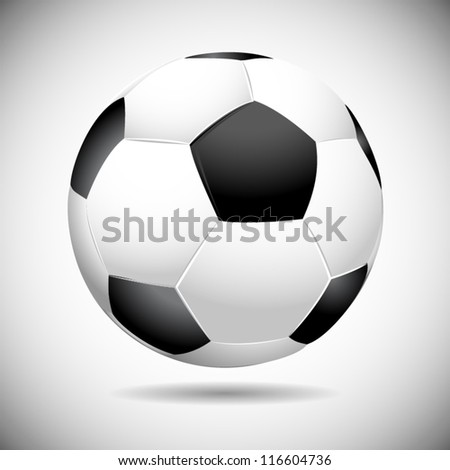 Black and white soccer ball vector illustration - stock vector