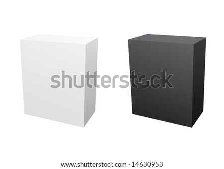 black and white software boxes