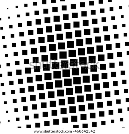 black and white squares halftone pattern. Stock vector illustration