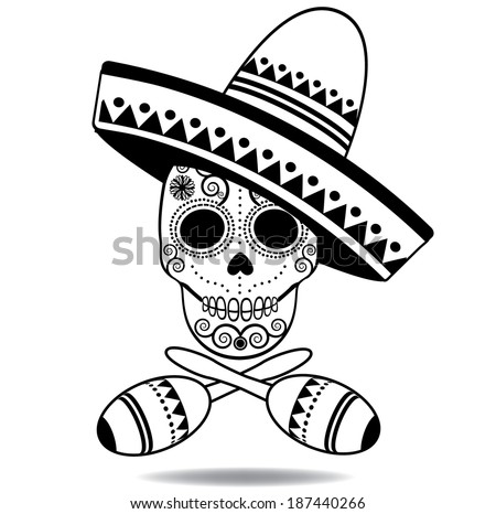 Black And White Sugar Skull Designs Black And White Sugar Skull