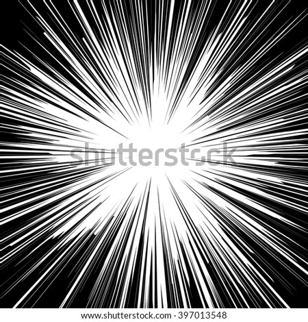 Black White Sunburst Abstract Background Ray Stock Vector ...