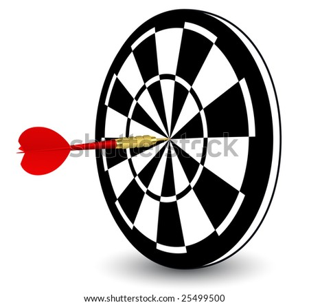 Black and white target, vector illustration, EPS file included - stock vector
