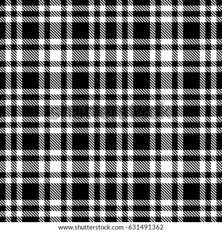 Tartan Pattern black white tartan seamless vector pattern stock vector 631491362