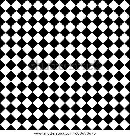 Black White Tile Chessboard Pattern Vector Stock Vector 603698675 ...