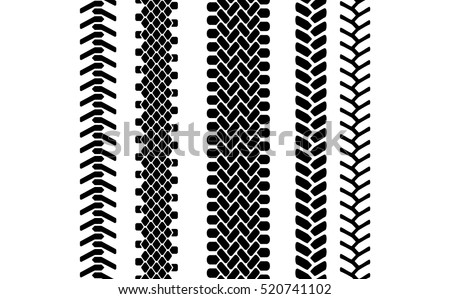 black white tire tread protector track stock vector 520741102 rh shutterstock com tire tread vector art free tire tracks vector free