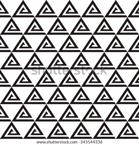 black and white triangle pattern - stock vector