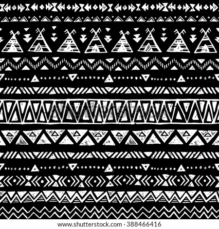 black white color tribal vector seamless stock vector