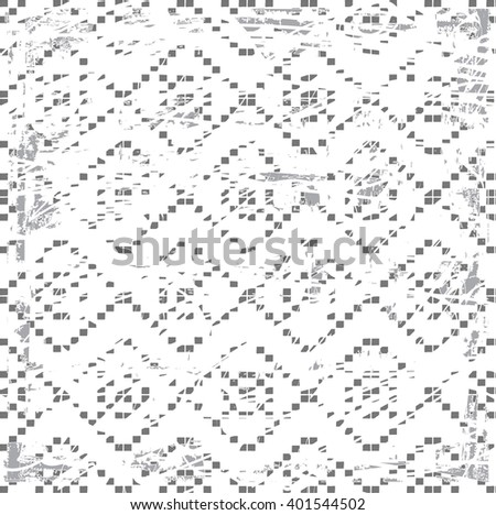 black and white tribal Navajo,boho vector pattern . aztec abstract geometric art print. ethnic hipster backdrop. Wallpaper, cloth design, fabric, paper, textile. Hand drawn - stock vector