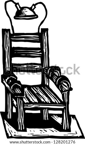 chair massage drawing. black and white vector illustration of an electric chair massage drawing