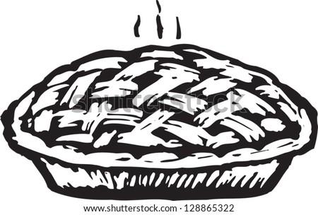 black white vector illustration berry pie stock vector 128865322 rh shutterstock com popcorn pieces clipart black and white popcorn pieces clipart black and white