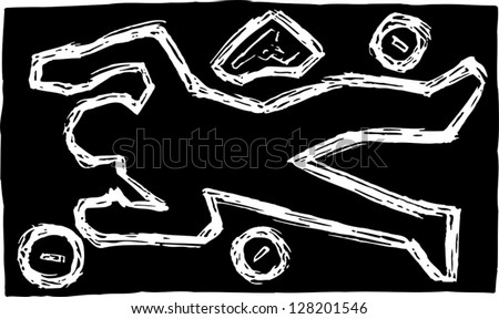 Dead body outline stock images royalty free images vectors black and white vector illustration of chalk outline of dead body at crime scene pronofoot35fo Gallery