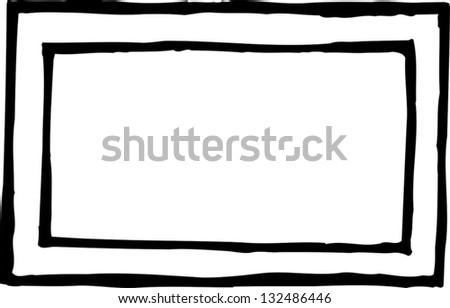 Black and white vector illustration of plain frame