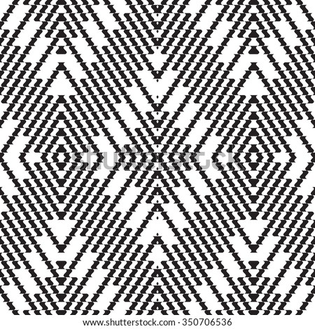 Black and white vector seamless pattern. Abstract background, cloth vector pattern, goose foot