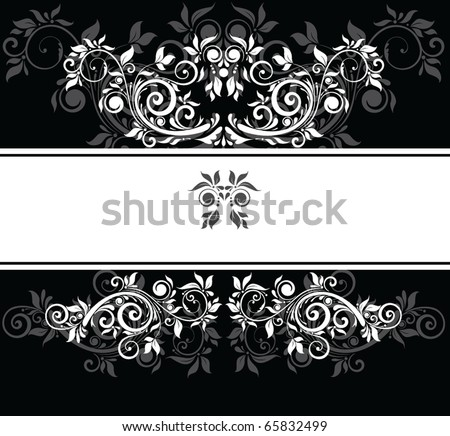 Black and white wedding template - stock vector