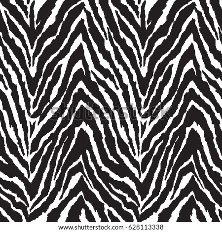 Black and white zebra print seamless background