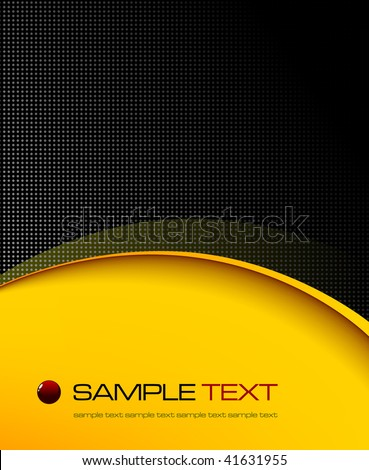 Black and yellow background composition - vector illustration - stock vector