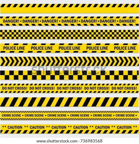 black yellow stripes barricade tape do stock vector royalty free