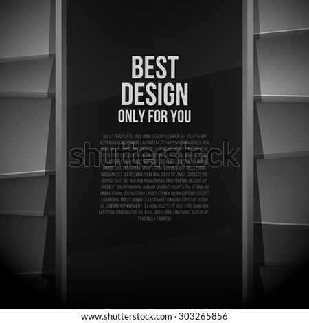 Black background in retro color style - stock vector