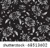 black background  with  chrysanthemums - stock vector