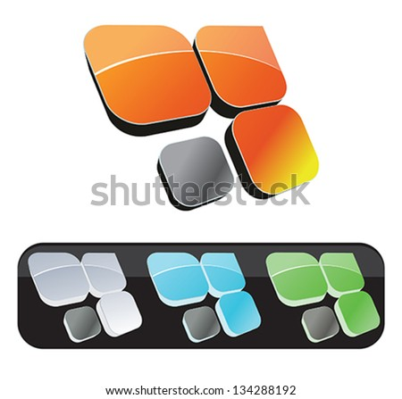 Black background with color flags for holiday - stock vector