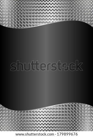 black background with metallic texture - stock vector