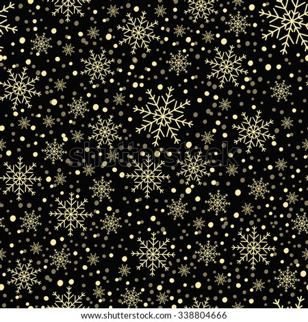 Black background with snowflakes. - stock vector