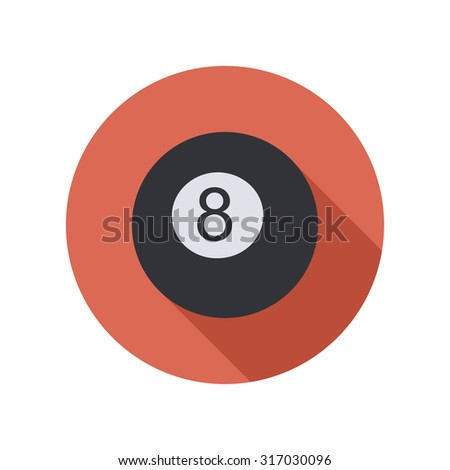 black ball flat circle icon - stock vector