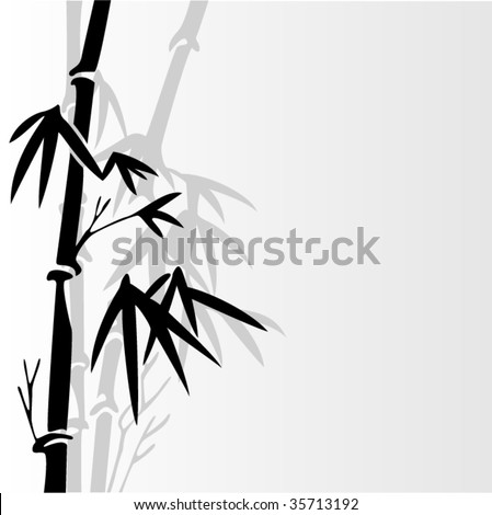 black bamboo with place for your text - stock vector