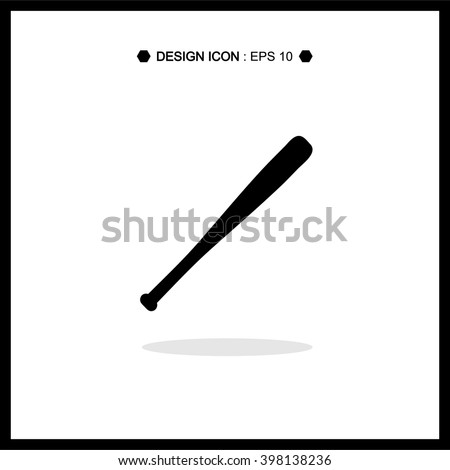 Black Baseball Bat Vector EPS10, Great for any use. - stock vector
