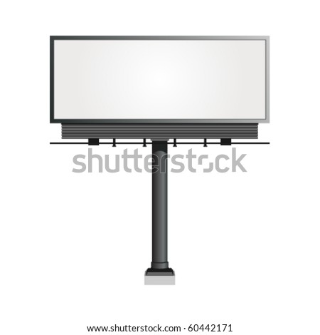 Black billboard - stock vector
