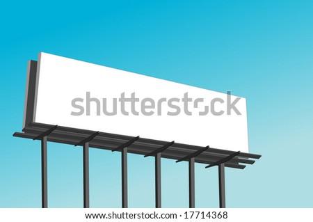 Black Billboard Vector Illustration - stock vector