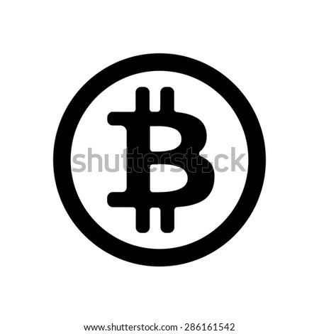 Bitcoin Logo Black Black Bitcoin Icon in a Circle