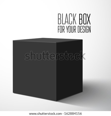 Black blank box. Vector illustration
