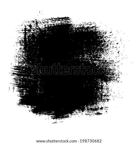 Black Blot, Vector Illustration - stock vector