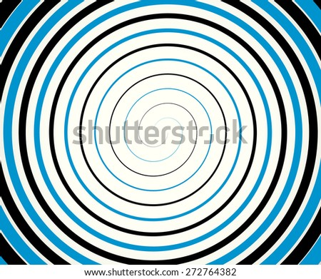 Black-blue duotone spiral  element, background. - stock vector