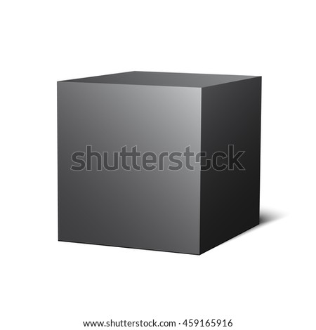 Black box. Cube. 3D. Vector illustration.