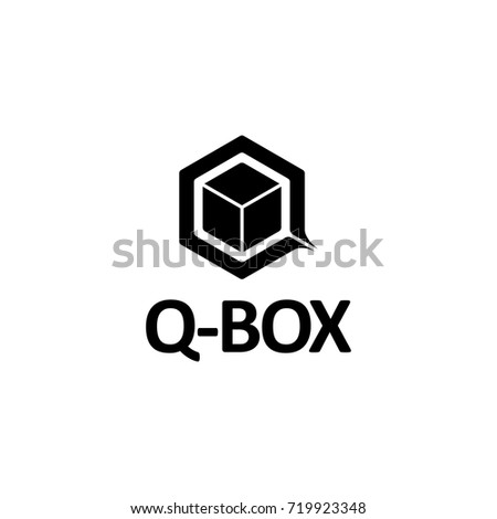 Black Box Logo Icon Letter Q Stock Vector Shutterstock
