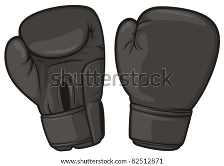 black boxing gloves - stock vector