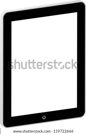 Black Business Tablet Isolated On White Similar To iPad - stock vector