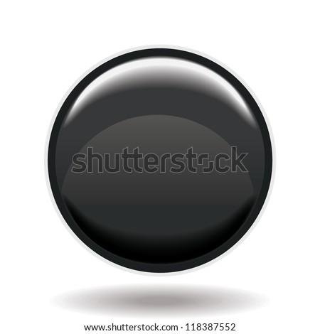 black button - stock vector