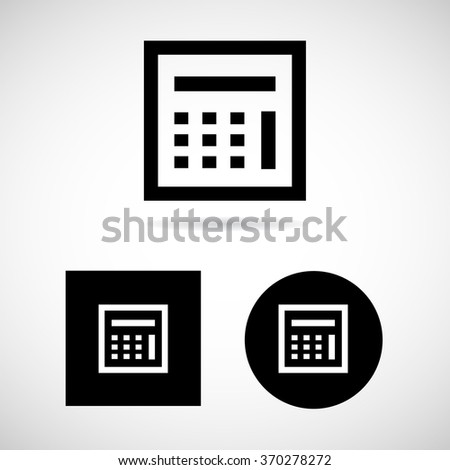 Black Calculator Icons Set Vector EPS10, Great for any use. - stock vector