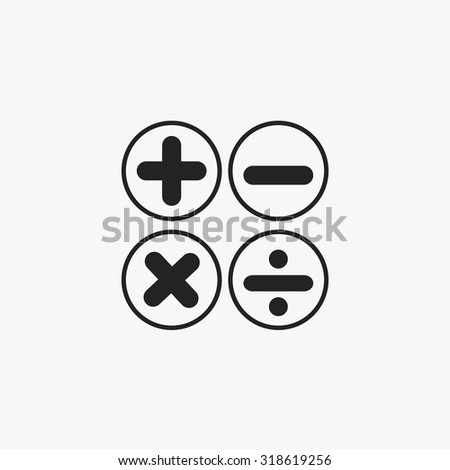 Black Calculator symbols icons set. Vector Illustration eps10.  - stock vector