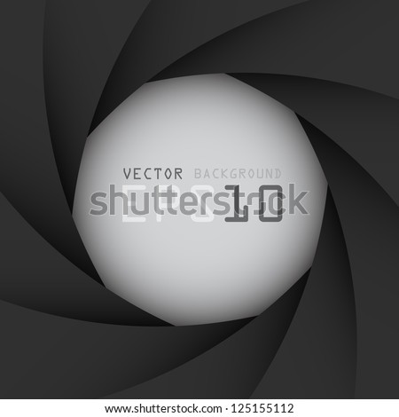 Black camera shutter background,Illustration eps10 - stock vector