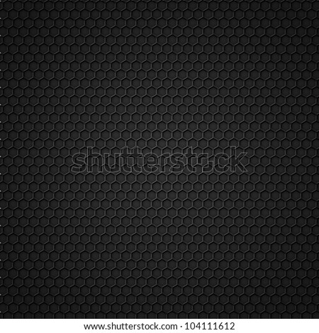 Black carbon seamless pattern with hexagons. Vector eps10 - stock vector